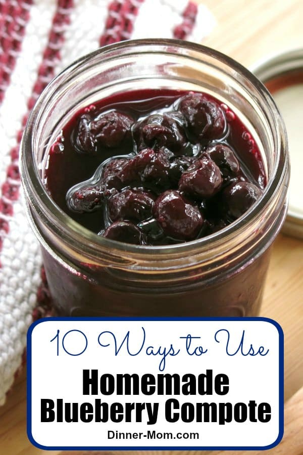 Make this easy Blueberry Compote so you can control the amount of sugar! There are so many ways to use it from pancakes and oatmeal to yogurt and ice cream. #blueberrycompote #blueberrycompoteuses