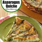 Easy Crustless Asparagus Quiche Pin