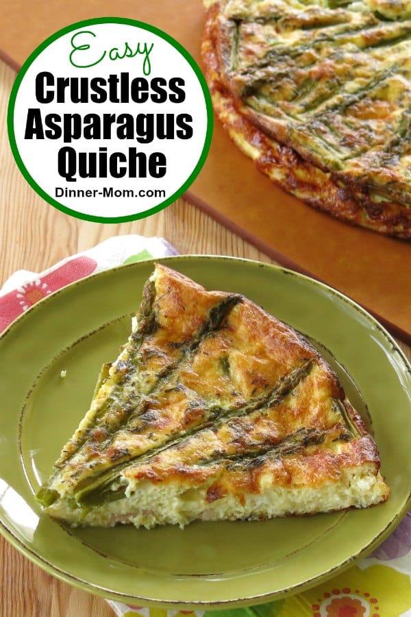 Easy Crustless Asparagus Quiche Pin