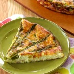 Crustless Asparagus Quiche {Low-carb, Gluten-free}