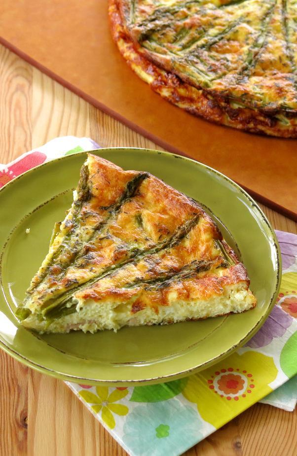 Ham And Asparagus Quiche - A Simple Savory Pie Recipes — Dishmaps