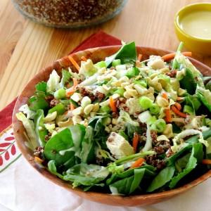 Kale Quinoa Salad with Sesame Aoili Dressing