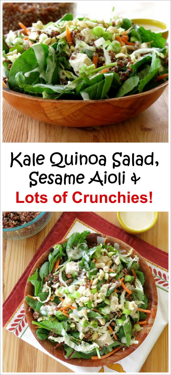 Kale Quinoa Salad with Sesame Aioli Dressing