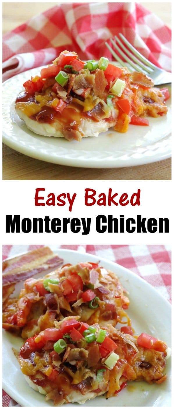 Easy Baked Monterey Chicken Recipe takes minutes to prepare, then you can sit back and relax while it cooks in the oven . Tips to make this Chili's Copycat low-carb and healthier too! Naturally gluten-free.
