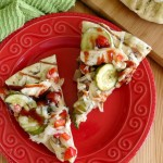 Grilled BBQ Chicken Pizza with Veggies