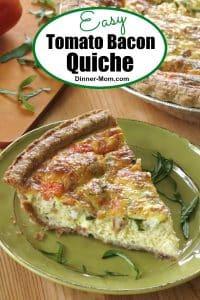 Easy Tomato Bacon Quiche Pin