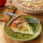 Tomato Bacon Quiche with Fresh Basil