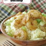 Cauliflower Grits and shrimp pin