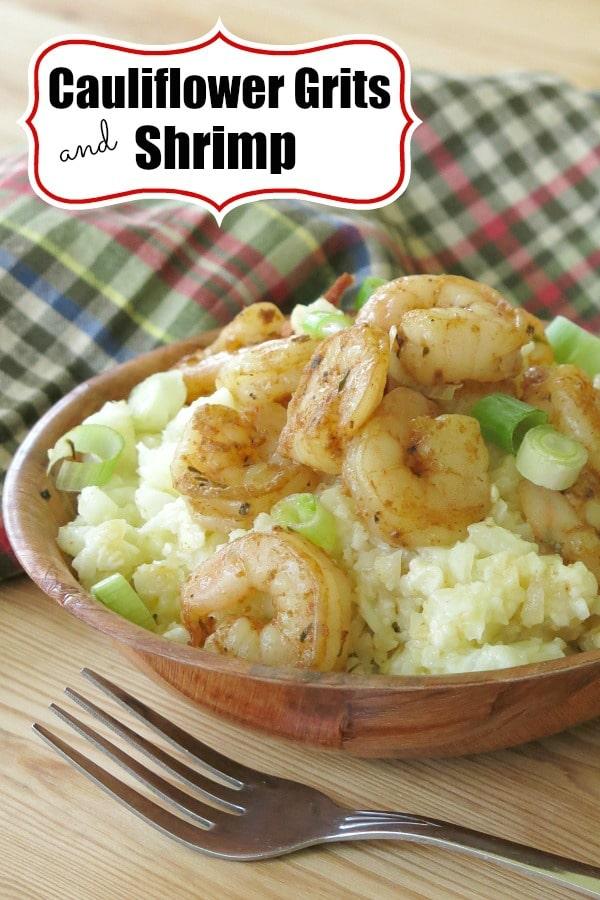 Cauliflower Grits and shrimp pin
