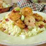 Spicy Shrimp And Cauliflower Grits