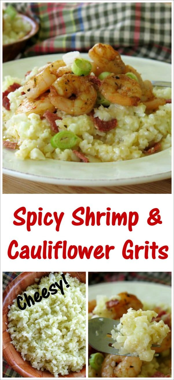 Spicy Shrimp and Cheesy Cauliflower Grits Recipe