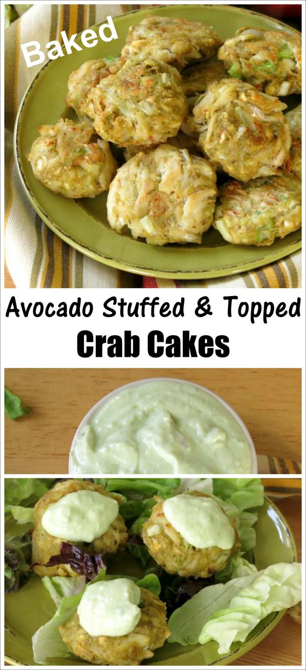 Easy Baked Crab Cakes Recipe with Avocado and No Mayonnaise