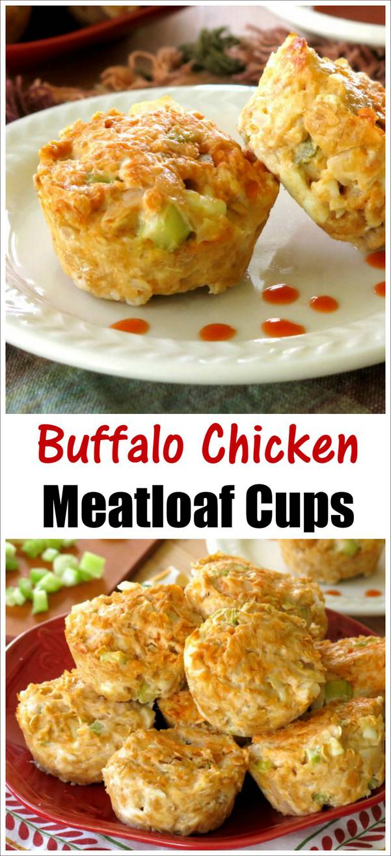 Buffalo Chicken Meatloaf Cups Recipe