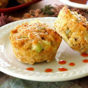 Buffalo Chicken Meatloaf Cups Recipe