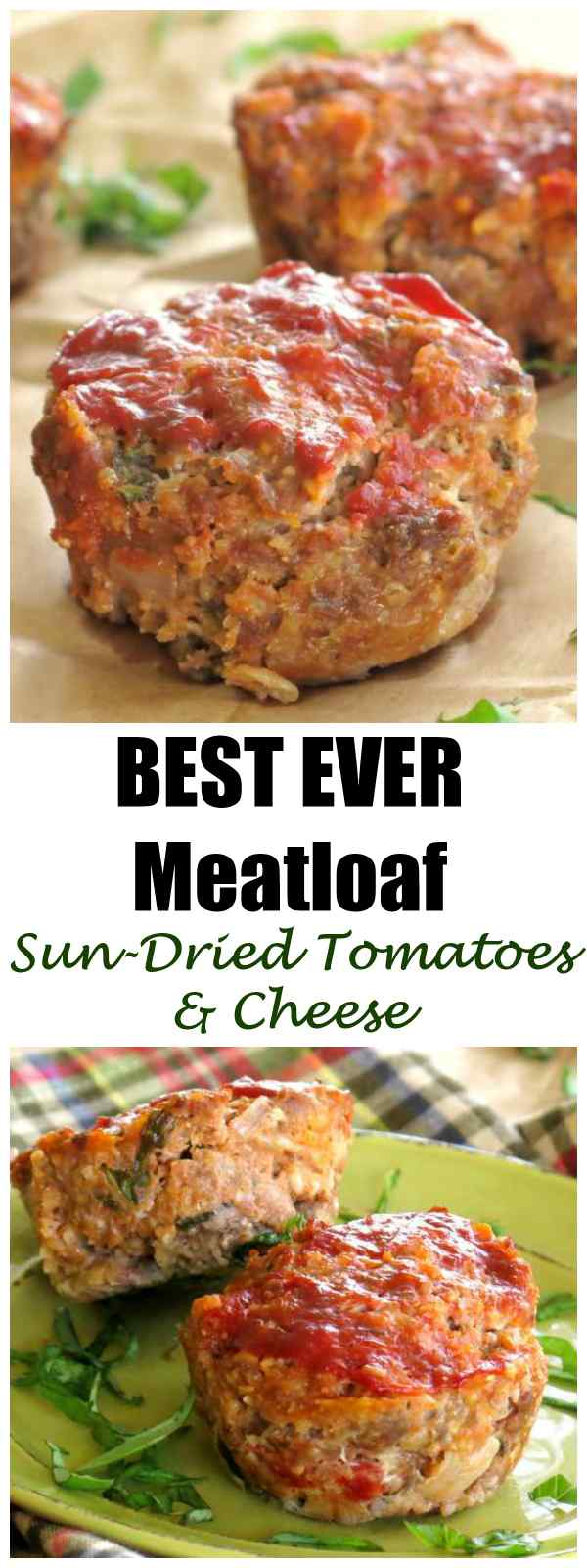 Meatloaf with Sun-dried Tomatoes and Mozzarella Cheese