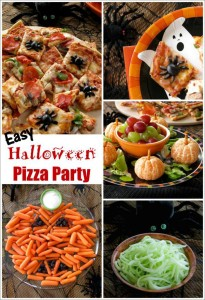 Easy Halloween Pizza Party