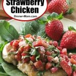 Easy Strawberry Chicken Recipe Pin