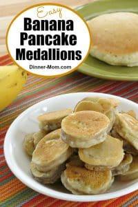 Easy Banana Pancake Medallions Pin
