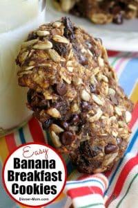Easy Banana Breakfast Cookies Pin