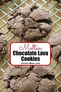 Molten Chocolate Lava Cookies Pin