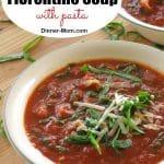Tomato Florentine Soup with pasta Pin