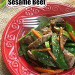 30 Minutes Sesame Beef Stir Fry Pin