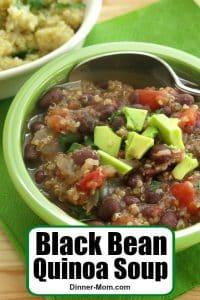 Black Bean Quinoa Soup Recipe Pin