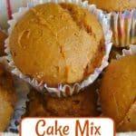 Cake Mix Pumpkin Muffins in basket
