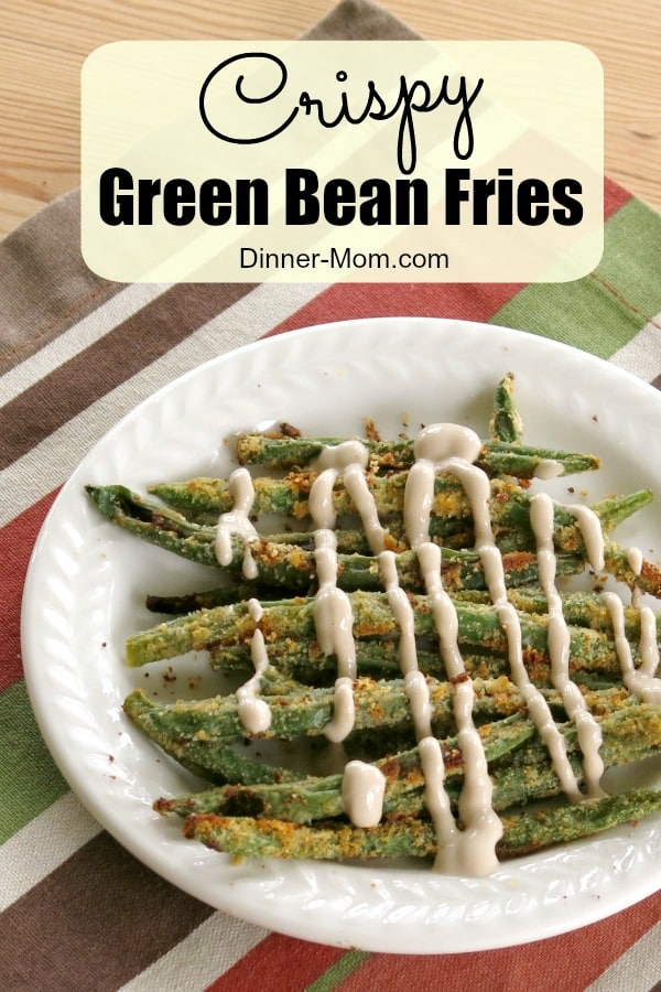 Crispy Baked Green Bean Fries and Balsamic Yogurt Dip is a low-carb, gluten-free recipe that will satisfy your need to crunch. #greenbeanfries #lowcarb #glutenfree