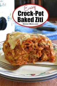 Easy Crock-Pot Baked Ziti Pin
