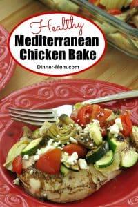 Healthy Mediterranean Chicken Bake Pin