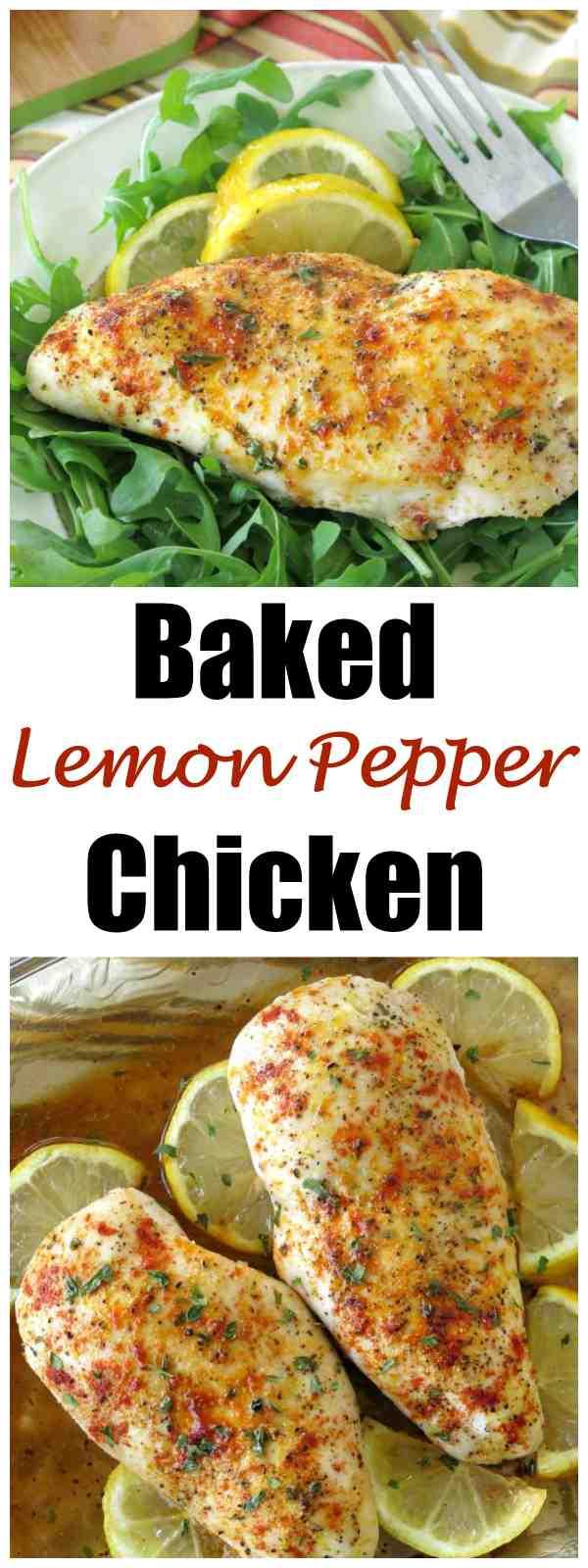 Baked Lemon Pepper Chicken Breast Recipe