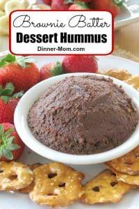 Brownie Batter Dessert Hummus