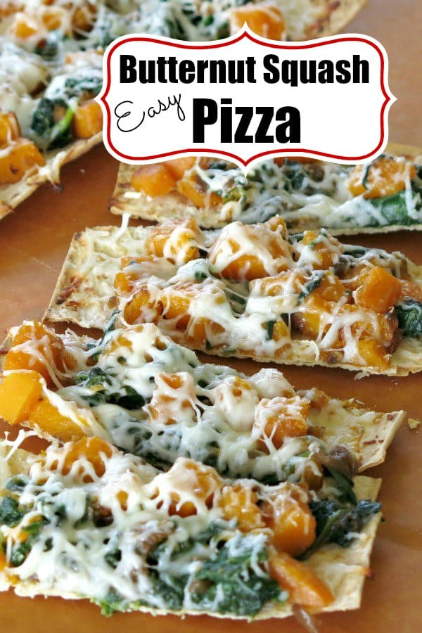 Butternut Squash Pizza Recipe with caramelized onion - makeover pizza night with this EPIC fall dinner! #pizzanight #butternutsquash #pizza #fallrecipes