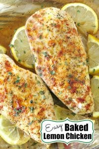 Easy Baked Lemon Chicken Pin