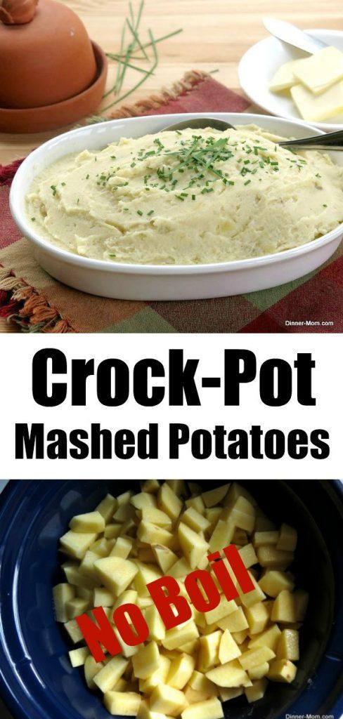 No Boil Crock-Pot Mashed Potatoes Pin