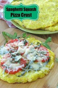 Spaghetti Squash Pizza Crust - Easy Recipe that is low-carb, gluten-free