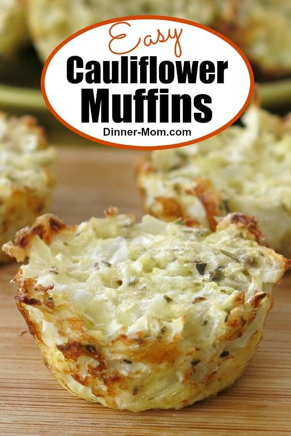 Easy Cauliflower Muffins Pin