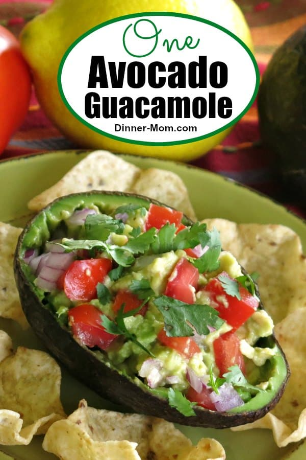 Easy guacamole recipe using just one avocado. Small batch recipe that's perfect for a snack or topping for a Mexican recipe.  #easyguacamole #healthysnack