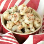 Sauteed Rock Shrimp Recipe in a bowl