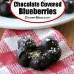 chocolate covered blueberries Pin