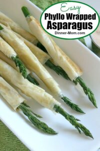 Easy Phyllo Wrapped Asparagus Pin