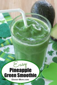 Easy Pineapple Green Smoothie Pin
