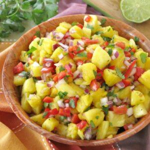 Easy Pineapple Salsa Recipe in bowl