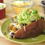 Mexican Stuffed Sweet Potatoes on plate