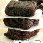 Zucchini Brownies Recipe Pin