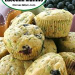 Easy Blueberry Zucchini Muffins Pin