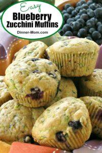 Easy Blueberry Zucchini Muffins Pin
