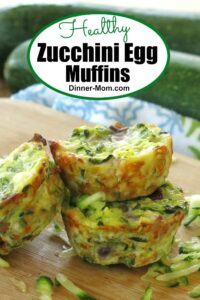 3 zucchini egg muffins on a plate