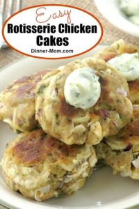 Rotisserie Chicken Cakes pin